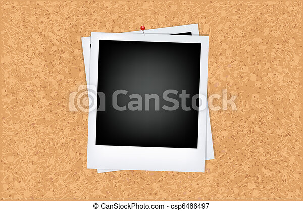Cork Board With Photo - csp6486497