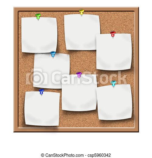 cork notice board blank sticker - csp5960342