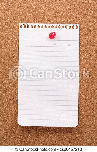 corkboard and notepaper - csp0457218