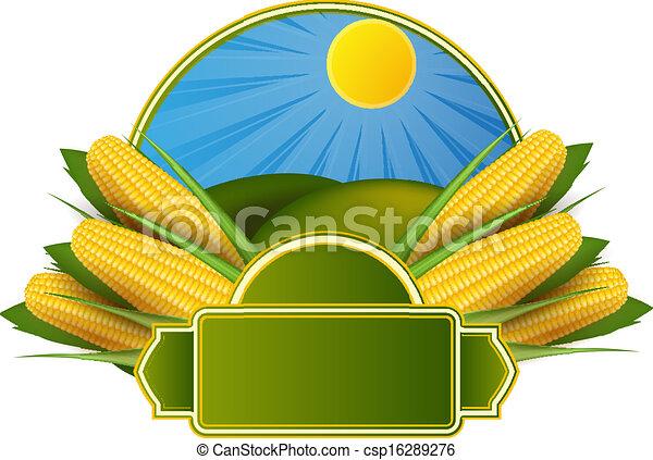 Corn cob label - csp16289276
