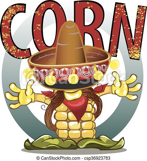 Corn cobs on white background. - csp36923783
