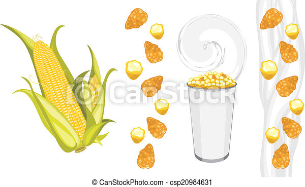 Corn flakes and popcorn products - csp20984631