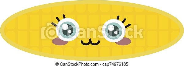 Corn, illustration, vector on white background. - csp74976185