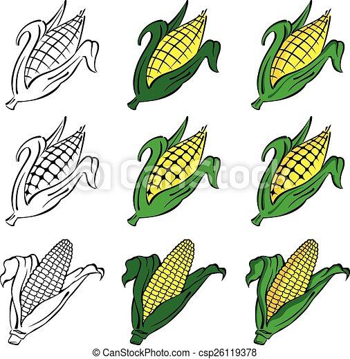 Corn Vector Set - csp26119378