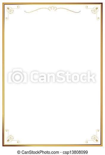 Corner patterns on white wallpaper - csp13808099