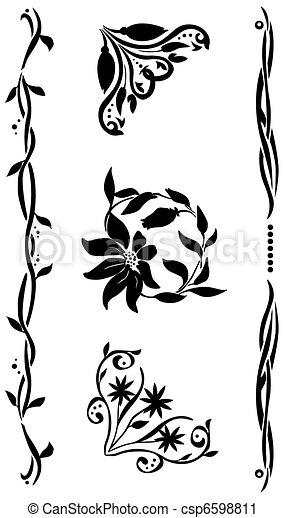 corner  renaissance style set - csp6598811