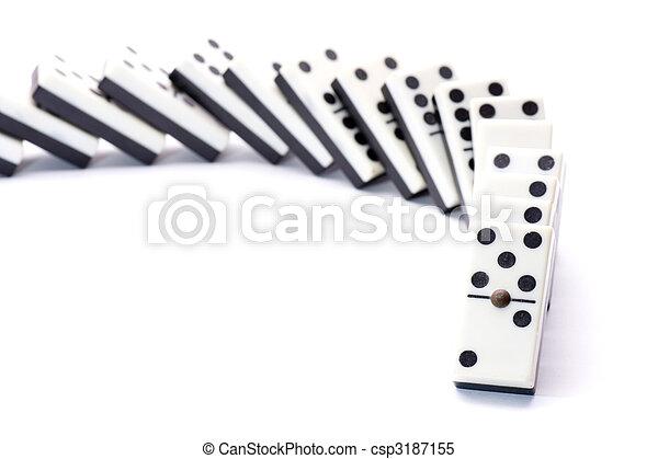 Cornering fallen domino - csp3187155