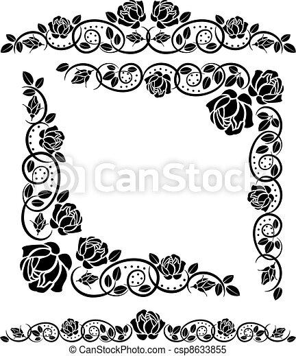corners roses - csp8633855
