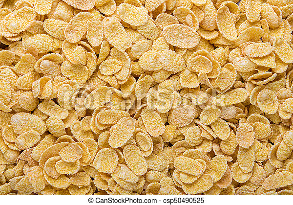 Cornflakes close-up. Cereals for use as background image or as texture - csp50490525