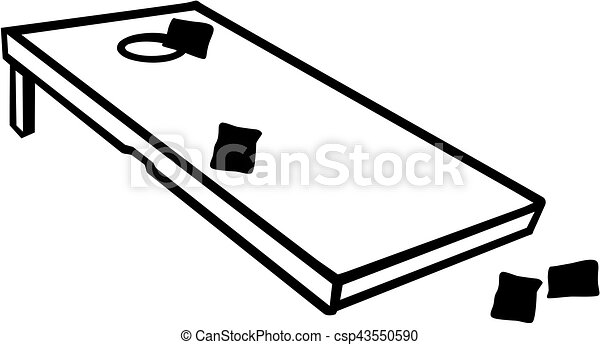cornhole game with bags eps vectors search clip art illustration rh canstockphoto com