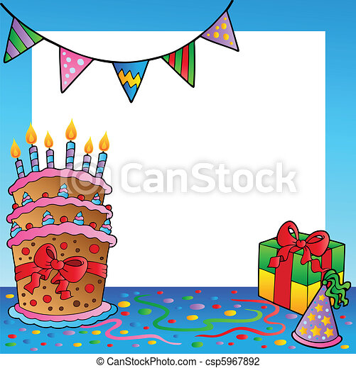 cornice, 2, tema, compleanno - csp5967892