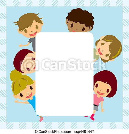 cornice, bambini - csp4481447