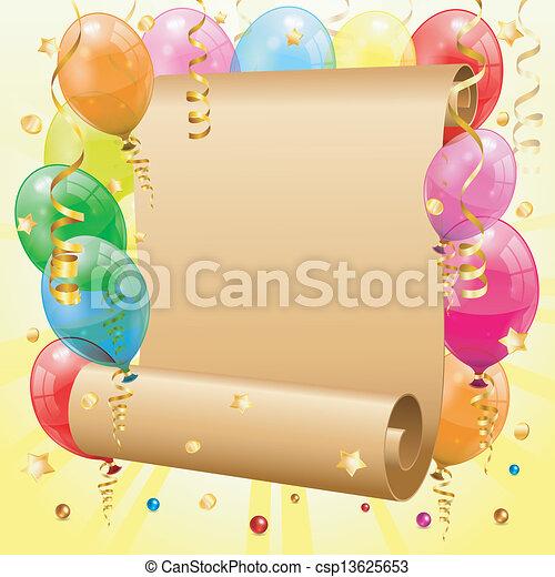 cornice, compleanno - csp13625653
