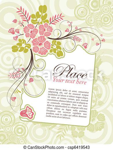 cornice, fiore - csp6419543