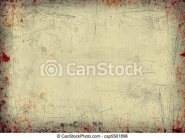 cornice, grunge - csp5561896
