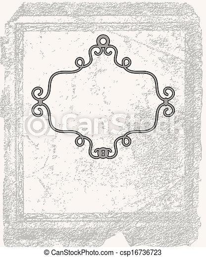 cornice, grunge, fondo - csp16736723