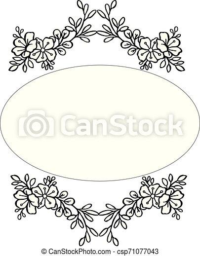 cornice, illustrazione, vettore, disegno, floreale, scheda - csp71077043