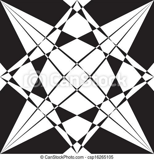 cornice, macchiato, elemento, vetro, sfondo nero, trasparente - csp16265105