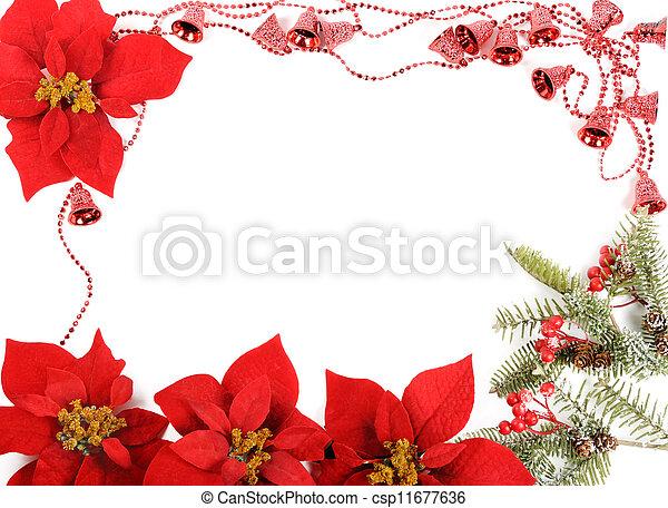 Cornici Foto Di Natale.Cornice Poinsettias