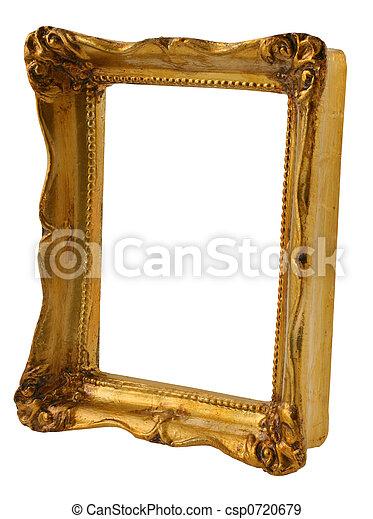 cornice, prospettiva, oro - csp0720679
