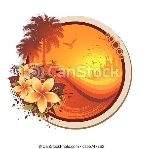 cornice, tropicale - csp5747762