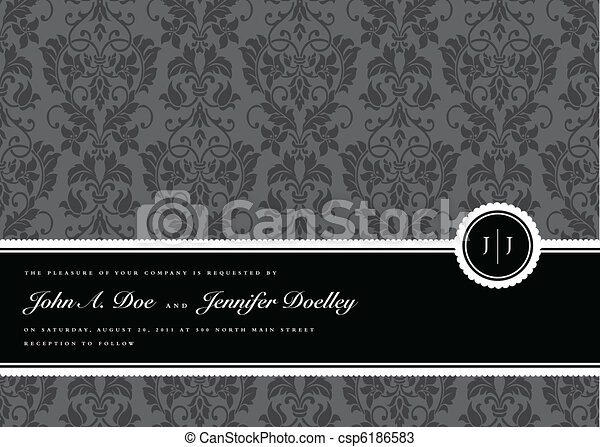cornice, vettore, nastro, fondo - csp6186583
