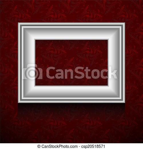 cornice, vettore, wall. - csp20518571