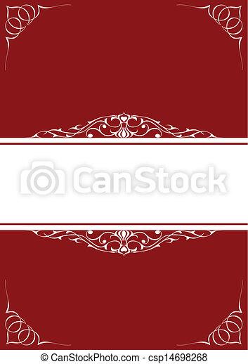 cornici, poco, sopra, fondo, rosso - csp14698268