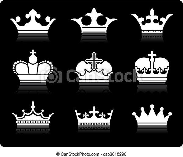 coroa, desenho, cobrança - csp3618290