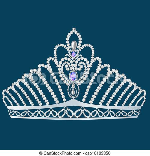 corona diadem feminine wedding with pearl - csp10103350