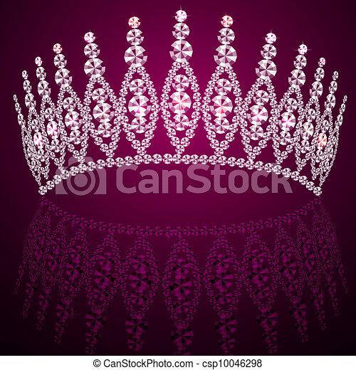 corona diadem feminine wedding with reflection - csp10046298