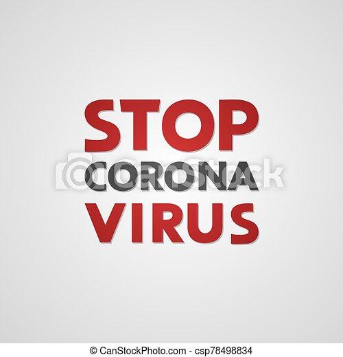 corona, parada, virus, mensaje - csp78498834