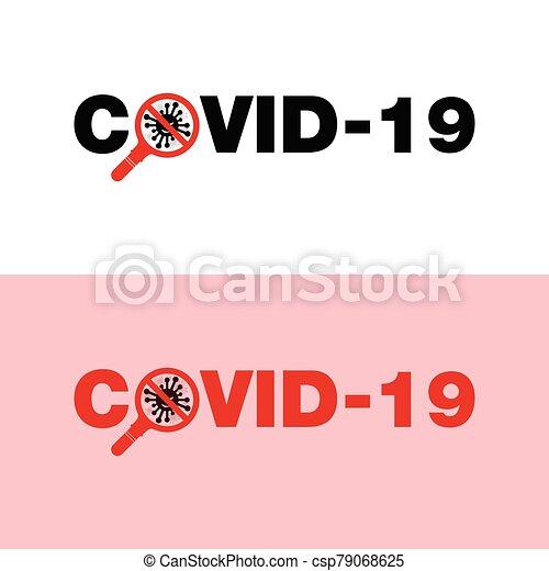corona, virus, logotipo - csp79068625