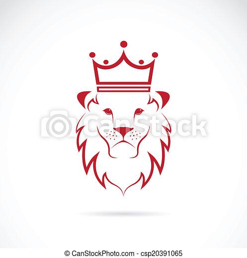 La imagen de un león coronado - csp20391065