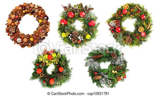 Las coronas de Navidad - csp10931781
