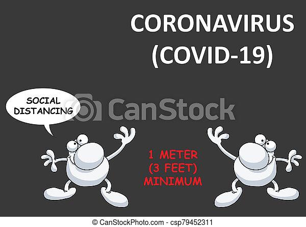 coronavirus, estados unidos de américa, 19, distancing, covid, social - csp79452311