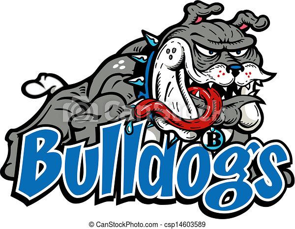 corpo, bulldog, matto, pieno - csp14603589