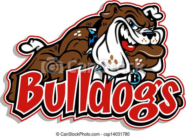 corpo, bulldog, pieno, smirking - csp14031780