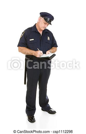 corpo, pieno, polizia, citazione, -, ufficiale - csp1112298