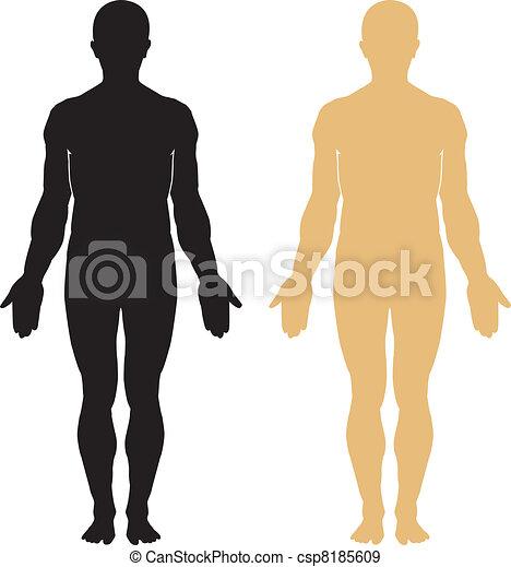 corpo, silhouette, umano - csp8185609