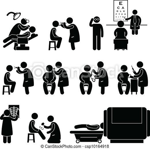 corporal, médico, cima, saúde, teste, cheque - csp10164918