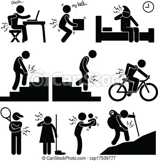 corporal, posição, pose, dor, human - csp17539777