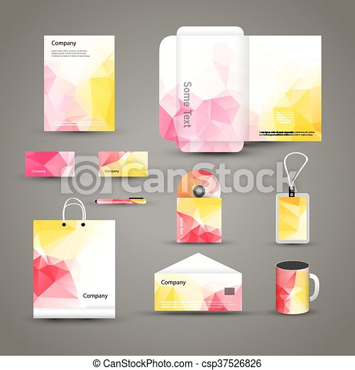 Corporate brand business identity design template layout letter corporate brand business identity design template layout letter letterhead folder card vector company triangle style branding design layout brand id maxwellsz
