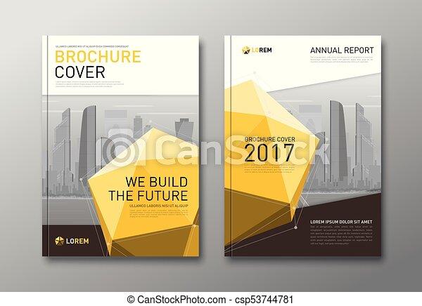 Corporate brochure cover design template. - csp53744781