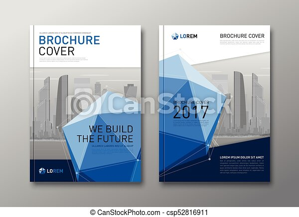 Corporate brochure cover design template. - csp52816911