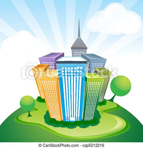 corporate buildings - csp5212216
