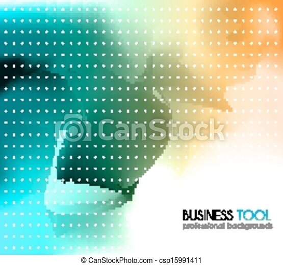 corporate business brochure or card cover colorful background with