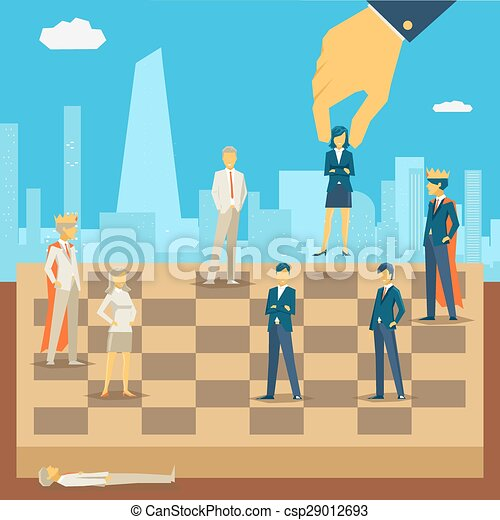 Corporate business chess - csp29012693