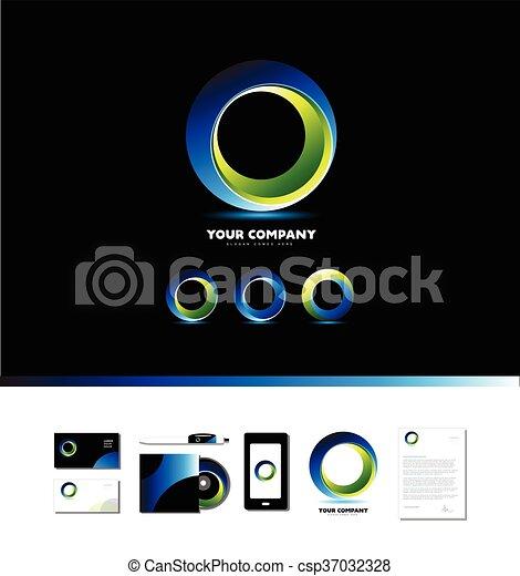 Corporate business circle logo - csp37032328