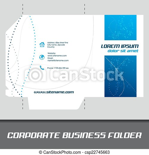 Corporate business folder stationery template design corporate business folder csp22745663 wajeb Choice Image